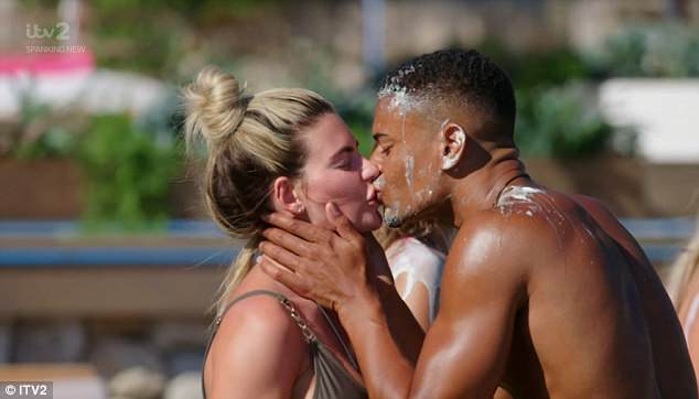 Steamy smooch: Tensions extended into the Snog, Marry, Pie game with Megan kissing Wes