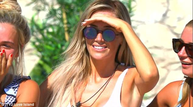 Unimpressed: Laura was left fuming  when pal Megan  made a move on her beau Wes