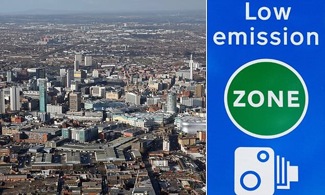 Birmingham and Leeds plan Clean Air Zones charging cars £10 a day