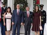 Second lady Karen Pence has been slammed on social media for wearing a 'too short and tight' dress to meet with King Abdullah and Queen Rania of Jordan