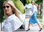 Ivanka Trump was spotted returning home Tuesday evening after attending the Medal of Honor ceremony for the late US Army First Lieutenant Garlin Conner