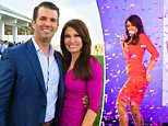 Kimberly  shared a picture of herself dancing at the Young Women's Leadership Summit to Instagram on Wednesday, to which Don Jr quickly responded: 'Looking good KG'