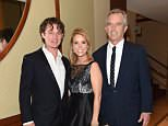 Fan club:Robert F Kennedy Jr spoke out about his son's upcoming wedding to Amaryllis Fox, 37, saying 'everybody is excited' and 'we love her' (Robert Kennedy Jr and his son with Cheryl Hines in 2015)