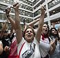 Hundreds of activists protest the Trump administration's approach to illegal border crossings and separation of children from immigrant parents, in the Hart Senate Office Building on Capitol Hill in Washington, Thursday, June 28, 2018. (AP Photo/J. Scott Applewhite)