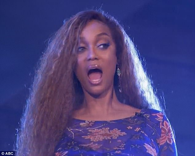 Shocking moment: The illusionist shocked host Tyra Banks