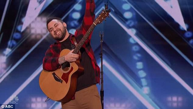 Nailed it: The singer rejoiced after nailing his rendition ofJordan Smith's Stand In The Light