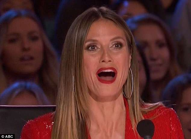 Loved it: Heidi loved the act and voted yes to advance Troy to the next round