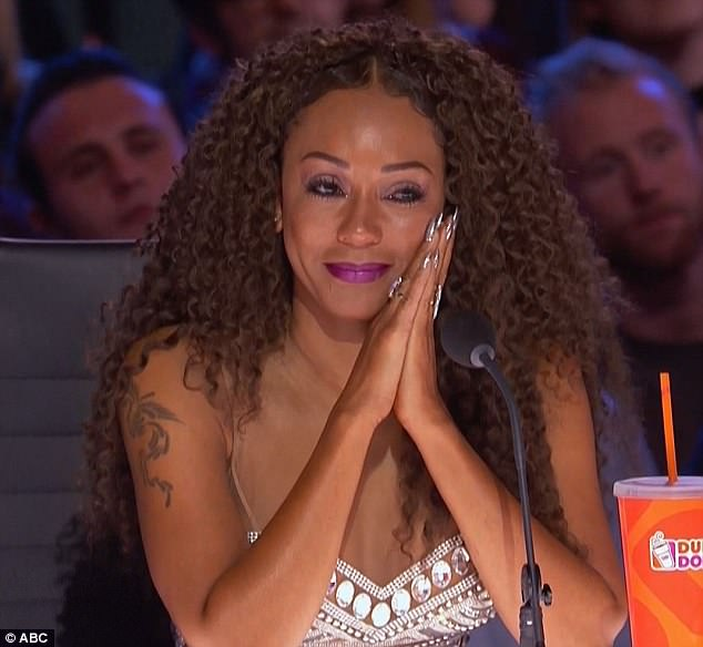Emotional audition: Mel B was left in tears by the audition of transgender singer Brody Ray on Tuesday's episode of America's Got Talent