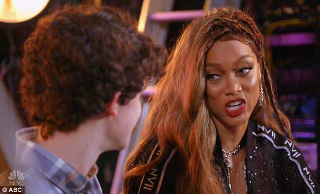 Be ready: Tyra Banks advised Joseph to be ready for girls sliding into his DMs