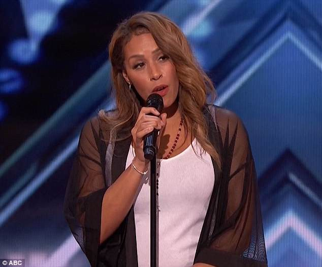 Powerful voice:Glennis Grace revived her dream of singing after giving it up when her 11-year-old son was born
