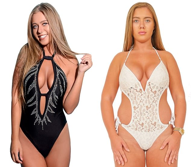 Weight gain: Love Island 2017 star Tyne-Lexy Clarson, 21, has admitted her body confidence has plummeted since her stint on the hit ITV2 show, after putting on two stone in weight