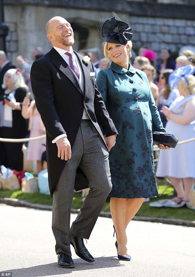 It's a girl! The royal and her rugby player husband (pictured at the royal wedding last month) who already have daughter Mia Grace, welcomed a little girl last week