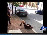 A Pennsylvania police officer has been caught on camera instructing a suspect to sit down