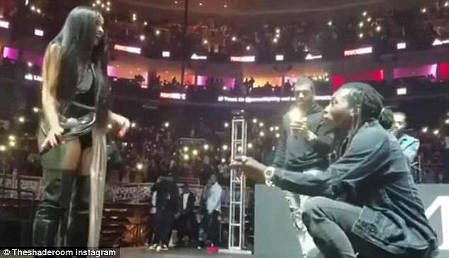 Second proposal: After making it seem as though they only got engaged in October when he bent down on one knee while on stage, Cardi also explained that she appreciated her husband still giving her that special moment even though they were already married