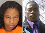 Ella Harris-Elmore, 29, shot her ex-husband Darren Elmore, 42 , as he mowed the lawn in the back yard of their home in Reeseville, South Carolina, on Tuesday night