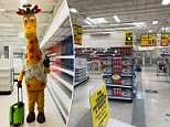 A photo of Toys 'R' Us mascot Geoffrey the Giraffe with a suitcase in a deserted store has gone viral as former Toys 'R' Us kids - most of them now adults - mourn the toy kingdom's demise