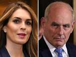 Trump is seen with Hicks on her last day in the White House on March 29. Now her name is being circulated as a possible replacement for chief of staff John Kelly