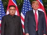 Sticking to his word? Despite promising Donald Trump to 'work toward' denuclearization at the Singapore summit, US intelligence believes North Korea is ramping up production