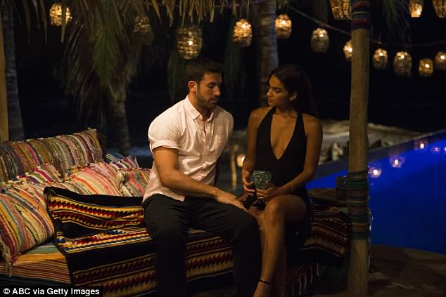 Drawn to each other: The couple got together early during one of the most dramatic seasons in the Bachelor franchise and were happily coupled up throughout season 4
