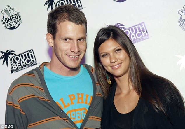 The ex: Before he met Carly, the star dated model Megan Abrigo. Seen in 2009