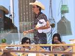 Kimbal Musk, pictured today in Girona, Spain, is said to be preparing for wedding celebrations at a village near Girona later today