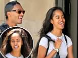 Malia Obama went for a stroll with a male friend on Saturday in New York City