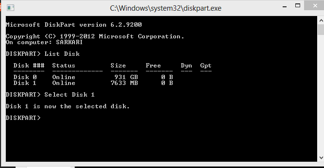 make bootable usb command prompt How to Make Bootable USB/Make USB Bootable in PC