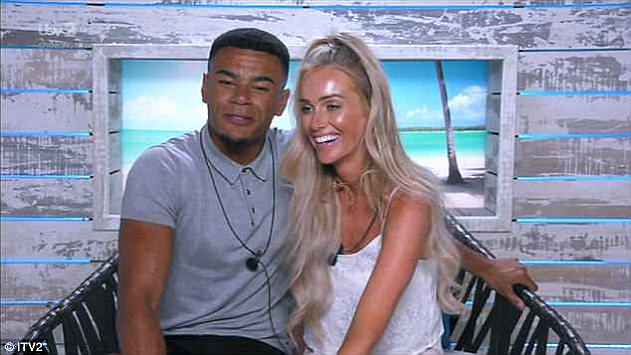 Heating up: Meanwhile Laura Anderson and Wes Nelson have taken their relationship to the next level as they admit they've had sex on Sunday's edition of Love Island
