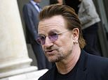 FILE - In this Monday, July 24, 2017, file photo, founder of the non-governmental organization ONE, U2 singer Bono speaks to the media after a meeting at the Elysee Palace, in Paris. Irish rock star Bono warned Monday, July 2, 2018, that the United Nations and other international institutions including the European Union and NATO are under threat, and nations must work together to ensure their continued existence. (AP Photo/Michel Euler, File)