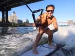 YouTube vlogger Casey Neistat enjoyed a day of water sports on the East River in New York City on Sunday