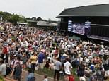 Rafael Nadal celebrates victory his Gentlemen's Singles first round match Wimbledon Tennis Championships