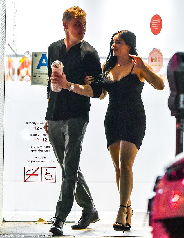 Sweet treat: Ariel Winter and her boyfriend Levi Meaden were spotted picking up dessert at Sprinkles in Los Angeles on Monday night