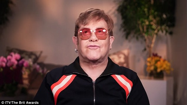 Whoops: Elton mispronounced Ed's name at the BRIT Awards in February - leaving fans confused