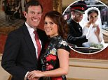 Princess Eugenie (above, with fiance Jack Brooksbank) will go one up even on Harry and Meghan on her big day