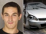 John Spencer, 23, was charged with felony aggravated assault after he allegedly backed over him mother while stealing her car