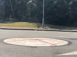 The cross of St George appeared on five roundabouts along a stretch in Kinmel Bay, north Wales