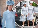 Pippa Middleton arriving for the christening of Prince Louis, the youngest son of the Duke and Duchess of Cambridge at the Chapel Royal, St James's Palace, London. PRESS ASSOCIATION Photo. Picture date: Monday July 9, 2018. See PA story ROYAL Christening. Photo credit should read: Dominic Lipinski/PA Wire