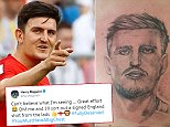 Matt Benton got this tattoo of Harry Maguire tattooed on his chest after the Sweden game