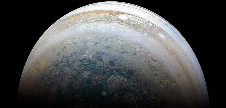 The stunning swirling storms of Jupiter's southern hemisphere: Juno probe reveals 'oil