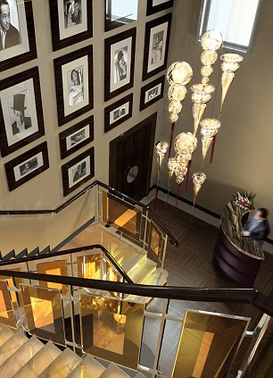 The New Ellington hotel staircase, Leeds