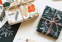 Lia Griffith: Gift Wrapping  / Designer, blogger, and Most Gifted Wrapper contest winner Lia Griffith shares some beautiful gift wrapping ideas. http://www.liagriffith.com/ / by Spoonflower