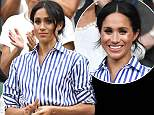 Mandatory Credit: Photo by REX/Shutterstock (9761914m)..Meghan Duchess of Sussex..Wimbledon Tennis Championships, Day 12, The All England Lawn Tennis and Croquet Club, London, UK - 14 Jul 2018