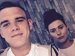 Dylan was found dead on Sunday after saying he had lost his 'best friend, brother and father figure' - and his partner Steph Wylam, 18, (pictured together) said today he was 'perfect in every way'
