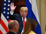 President Trump has called his Helsinki summit with Vladimir Putin a 'huge success' just hours after saying that he misspoke when he said he saw no reason to believe Russia had interfered in the 2016 US election