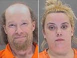 William Herring, 42, smiled in his mugshot on Monday after he and his fiancee Brianna Brochhausen, 22, were arrested for the murder of their four-month-old son