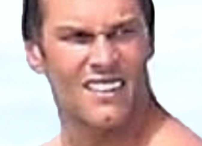 Brady hits the beach after being shamed for his abs
