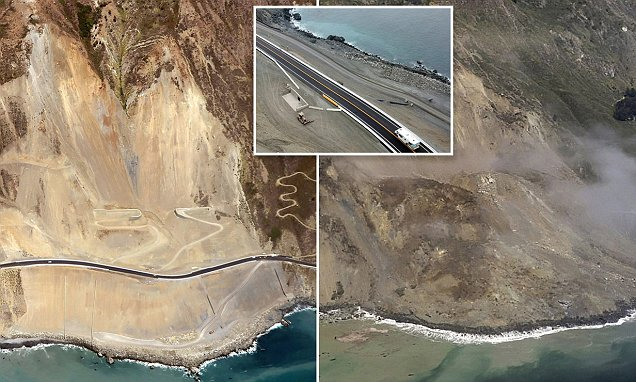 Scenic California highway near Big Sur reopens after slide