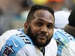 Defensive end Jurrell Casey of the Tennessee Titans on the bench during the NFL game against the Arizona Cardinals at the University of Phoenix Stadium on December 10, 2017 in Glendale, Arizona