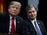 Speaking at a security conference in Aspen, FBI Director Christopher Wray (seen right with NBC News anchor Lester Holt) publicly repeated his view that Russia interfered in the 2016 presidential election - a view not shared by his boss, the president