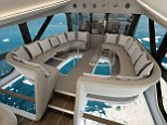 These newly-released pictures show what the interior of the world's largest aircraft, the Airlander 10, could look like